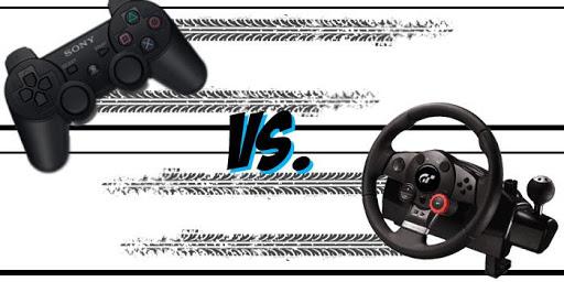 mando vs volante de carreras